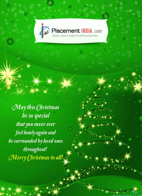 Happy Merry Christmas From Placement India